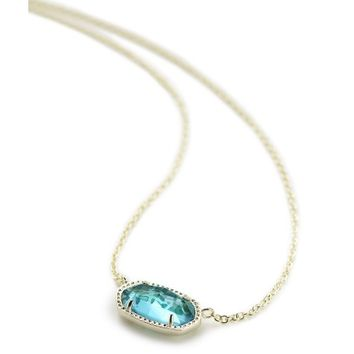 Elisa Pendant Necklace in London Blue | Kendra Scott Jewelry