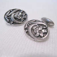 Sterling Silver Art Nouveau Cufflinks
