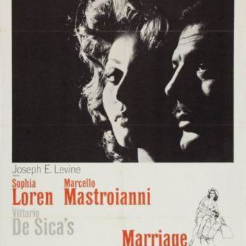 Marriage Italian Style movie poster Sign 8in x 12in