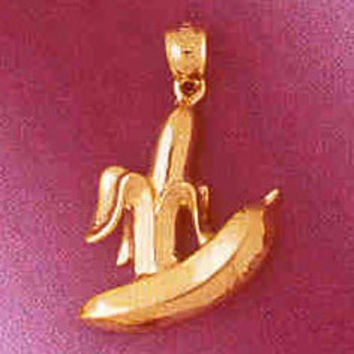 14K GOLD FOOD CHARM - BANANA #6896