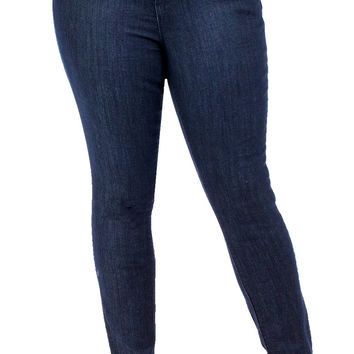 Junior Plus High-Waist WannaBettaButt skinny jeans