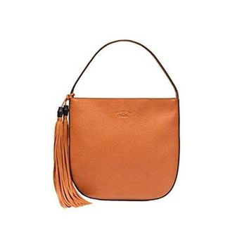 MDIG1U1 Gucci Lady Tassel Leather Hobo Shoulder Bag 354475, Orange