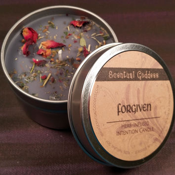 FORGIVEN Intention Candle - Burn While Focusing On Your Intention to Free Yourself of Past Pain