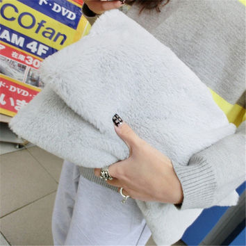 Fashion Winter Faux Fur Clutch Bag for Girls Crossbody Bags Women Handbag Designer Women's Clutches Shoulder messenger bags