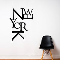 Wall Decal Vinyl Sticker Decals Art Decor Design Sign Words Letters New York NY City Town Capital One Love Dream Bedroom (r209)