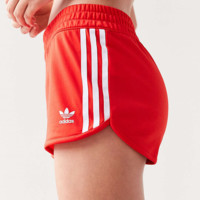 Adidas Originals Red Three Stripe Shorts