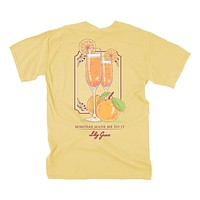 Mimosas Made Me Do It Tee in Butter by Lily Grace