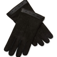 Costume National Men's Leather Gloves - Black -
