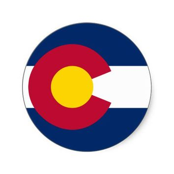 Colorado State Flag Sticker from Zazzle.com