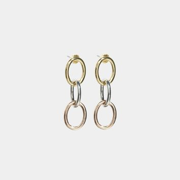 Gemmed Trifecta Mini Earring