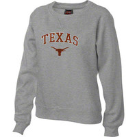 Texas Longhorns Women's Grey Tackle Twill Crewneck Sweatshirt