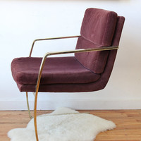 Modern Gold Glam Milo Baughman Style Chair. by GallivantingGirls