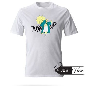 Lisa Simpson Turn Up T shirt size XS - 5XL unisex for men and women