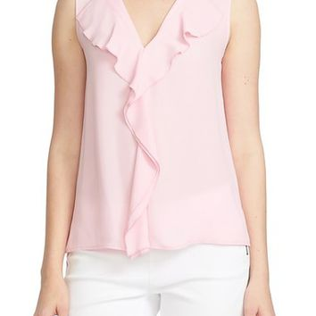 CeCe by Cynthia Steffe Ruffle Front V-Neck Blouse | Nordstrom