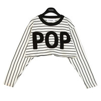 POP Boucle Embroidered Crop Top