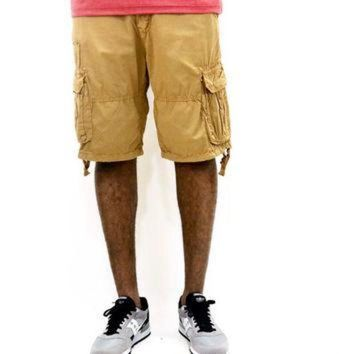 LMFUG7 Jordan Craig Lightweight Garment Dyed Cargo Shorts - Wheat