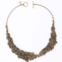 Botanical Leaf Statement Necklace