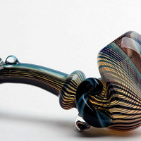 Color-Flow Sherlock Hand Blown Glass Pipe
