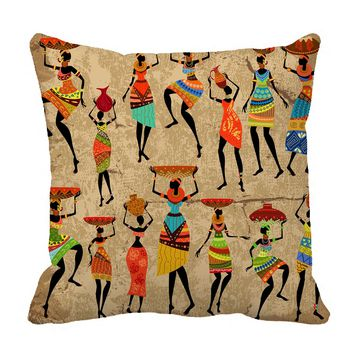 YKCG African Art Afro American Women History and Culture Pillowcase Pillow Cushion Case Cover Twin Sides 18x18 inches