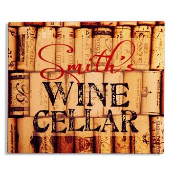 Personalized Wine Cellar Aluminum Bar Sign