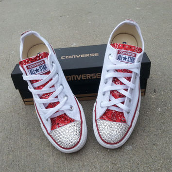 Custom Converse with Bedazzled Toe and from IEfashioncreations on 0fa046662b13