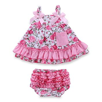 Summer Jumpsuits Baby Girl Clothing Set