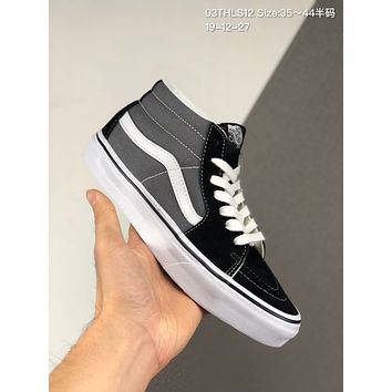 Vans SK8-Mid Reissue cheap mens and womens Fashion Canvas Flats Sneakers Sport Shoes