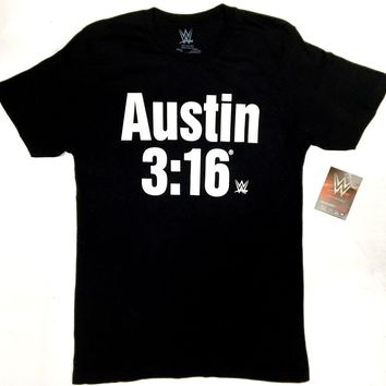 WWE Wrestling STONE COLD STEVE AUSTIN 3:16 T-Shirt NWT Licensed & Official