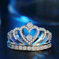 Engagement Ring Crown Female Bijouteri Bague Jewellery Anelli Donna