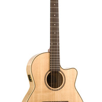Seagull Performer Cutaway Folk Flame Maple High Gloss QI Acoustic Guitar