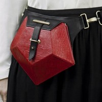 Red Pentagone Belt Bag