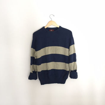 Vintage Jantzen Sport Striped Sweater Size LARGE