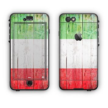 The Green, White and Red Flag Wood Apple iPhone 6 Plus LifeProof Nuud Case Skin Set