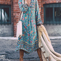 Print Hot Sale Women's Fashion Irregular One Piece Dress [11545340559]