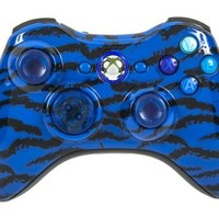 Drop shot, Auto-aim, Jitter Xbox 360 Modded Controller COD Ghosts, MW3, Black Ops 2, MW2, Rapid fire mod (Blue Tiger)