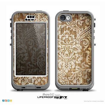 The Antique Floral Lace Pattern Skin for the iPhone 5c nüüd LifeProof Case
