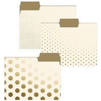 Cream and Gold File Folders