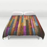 Wood Texture 640 Duvet Cover by Robin Curtiss