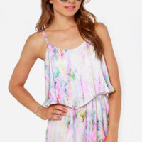 Lucky Streaks Watercolor Print Romper