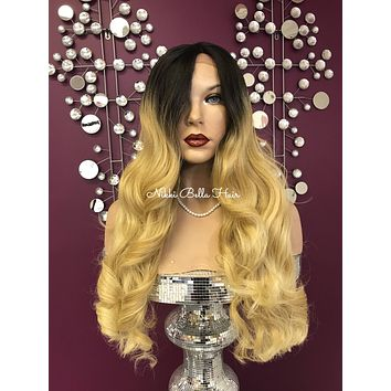 Blond ombre' lace front wig #11816