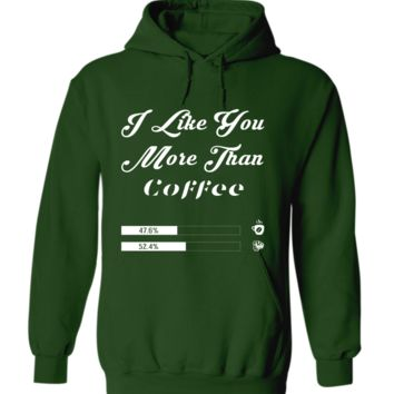 I Like You More Than Coffee With Hand And Coffee Cup Vector Hoodie