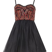 alice + olivia | AUDRIE EMBELLISHED BUSTIER PARTY DRESS