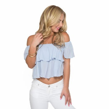 Riviera Blouse in Baby Blue