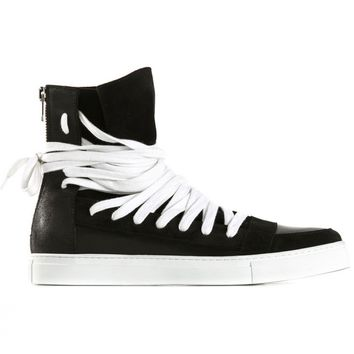 KRISVANASSCHE - Multi-Lace Reverse Leather Trainer - 151FO138 KVC12 999 - H. Lorenzo