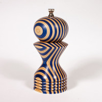6 inch Blue and White Pepper Mill-Blue and Natural-Wedding Gift-