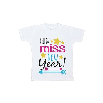 Custom Party Shop Kids Little Miss New Year T-shirt