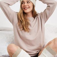 Aerie Downtown Sweatshirt, Light Tan