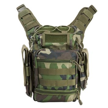 First Responders Utility Bag w/ Plenty of Space 7 Compartments - Woodland Camo