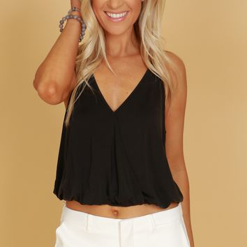 Short Wrap Tank Black