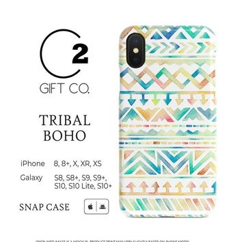 Tribal Boho - Premium Slim Snap Phone Case Cover For Iphone X, Xr, Xs, 8, 8+ & Samsung Galaxy S10, S10+, S9, S9+, S8, S8+